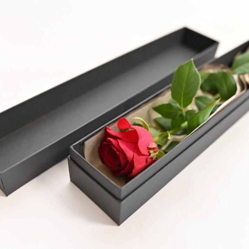 One Rose Box Flower